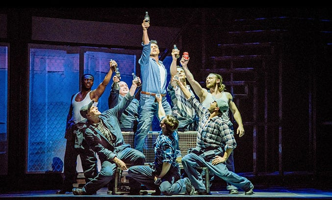 Ben Adams and the cast of FLASHDANCE. Photography by Brian Hartley