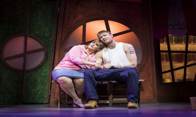 Jodie Prenger and Andrew Flintoff in FAT FRIENDS: THE MUSICAL