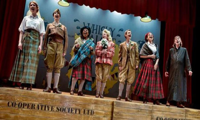 The cast of WHISKY GALORE at Oldham Coliseum