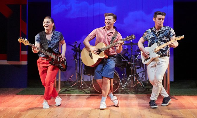 Sarah Workman, Luke Thornton and David Heywood in SUMMER HOLIDAY