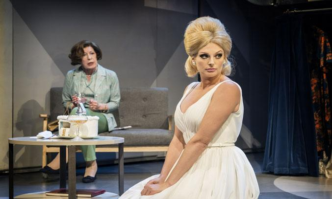 Katherine Kingsley as Dusty and Roberta Taylor as Kay in DUSTY