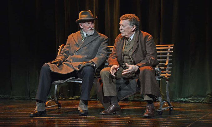 Robert Powell in SHERLOCK HOLMES: THE FINAL CURTAIN