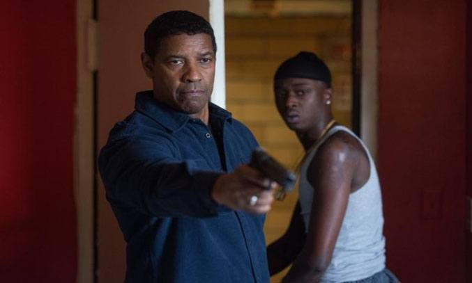 Denzel Washington and Ashton Sanders in THE EQUALIZER 2 (2018)