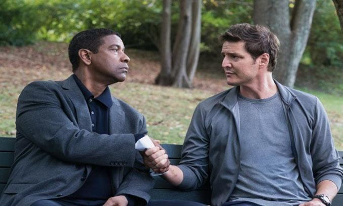 Denzel Washington and Pedro Pascal in THE EQUALIZER 2 (2018)