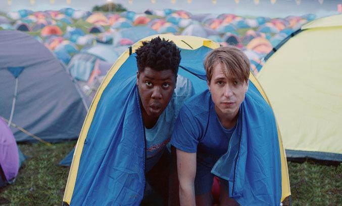 Joe Thomas and Hammed Animashaun in The Festival (2018)