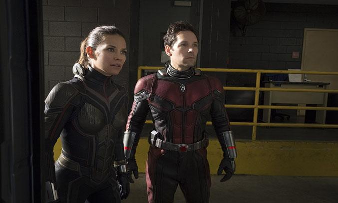 Paul Rudd and Evangeline Lilly in Ant-Man and the Wasp (2018)