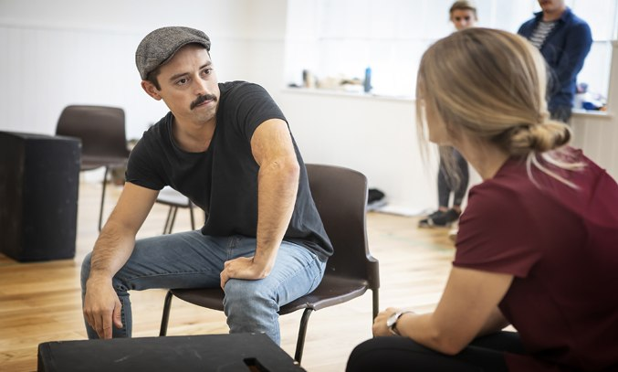 Marc Pickering & Naomi Slights in rehearsals for THE RETURN OF THE SOLDIER. Photo: Pamela Raith