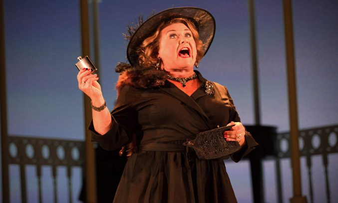 Wendi Peters as Lady Raeburn in SALAD DAYS. Photo Credit: Mark Senior.