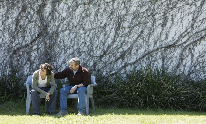 Steve Carell and Timothée Chalamet in BEAUTIFUL BOY