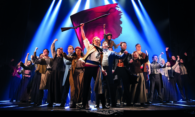 The cast of LES MISERABLES with 'One Day More'