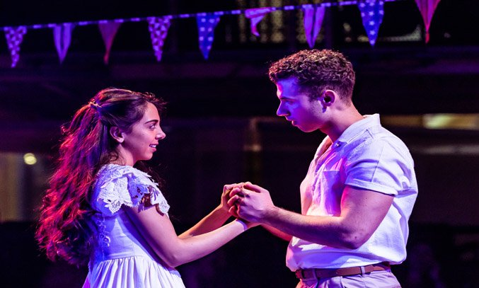 Gabriela Garcia (Maria) & Andy Coxon (Tony) in WEST SIDE STORY.