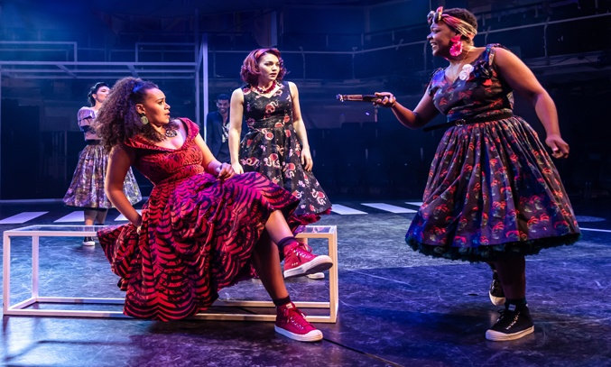 Natalie Chua, Jocasta Almgill, Frances Dee & Bree Smith in WEST SIDE STORY