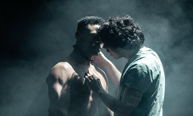 Ira Mandela Siobhan as Nugget and Ethan Kai as Alan Strang in EQUUS