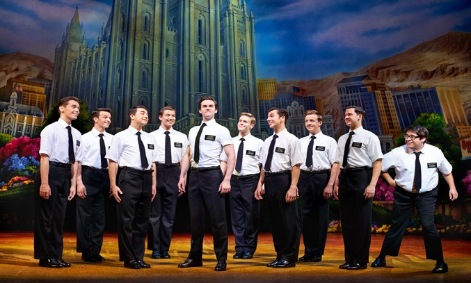 The cast in THE BOOK OF MORMON UK Tour