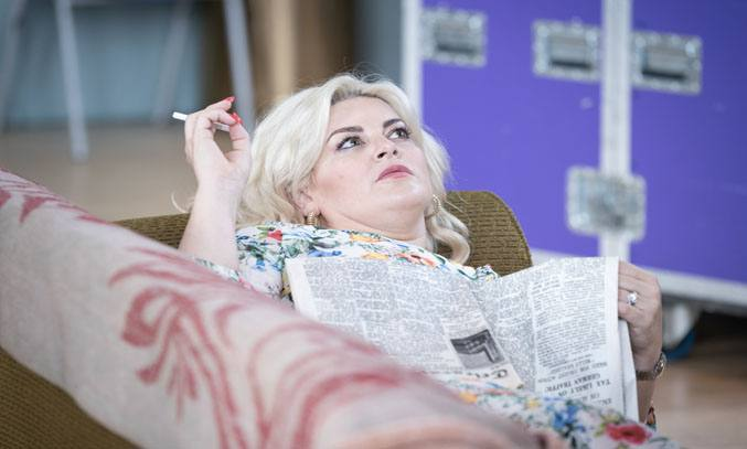 Jodie Prenger in rehearsals for A TASTE OF HONEY. Photo Credit: Marc Brenner