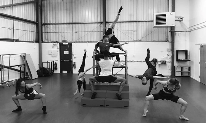 Z Bo Jackson Company in Rehearsals.