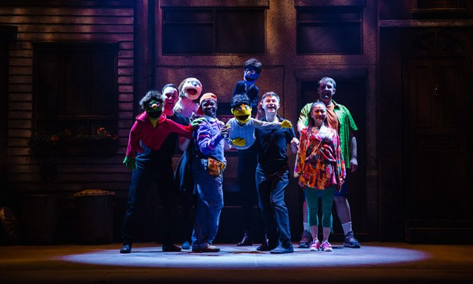 The cast of AVENUE Q UK Tour