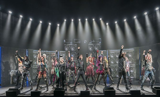 The cast of WE WILL ROCK YOU UK Tou