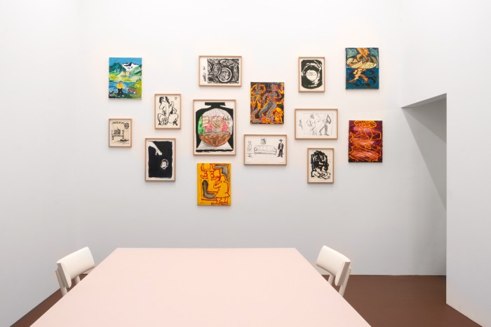 Alex Beccera, Some Drawings and Paintings Pt. 1, Installation view, Karma International Zürich, Photo: Flavio Karrer