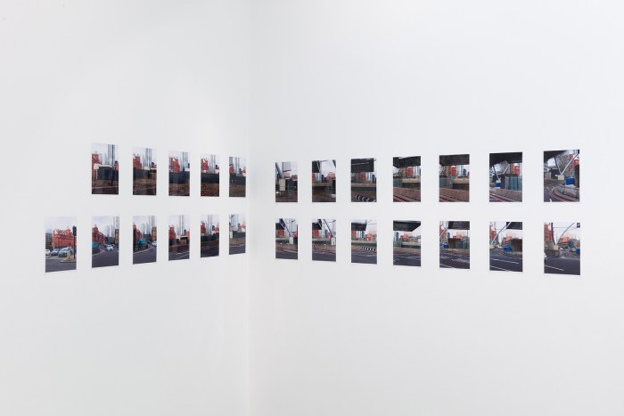 WOLFGANG TILLMANS Old Street (parallax), 2019 80 c-type prints installed over four walls each print 27 x 18 cm © Wolfgang Tillmans, courtesy Maureen Paley, London
