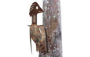 metalen specht van oud gereedschap