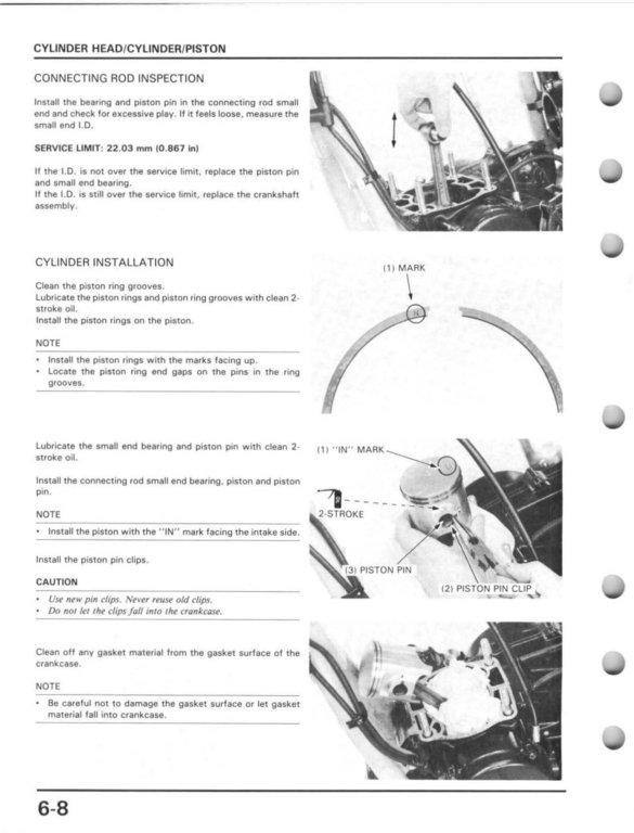 1991 Cr250 Service Manual