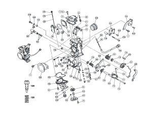 Keihin FCR carburetor parts diagram  Frank! MXParts