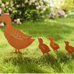 Gartenstecker-Set Enten, 4-teilig
