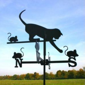 SvenskaV Wetterfahne Katze schwarz klein
