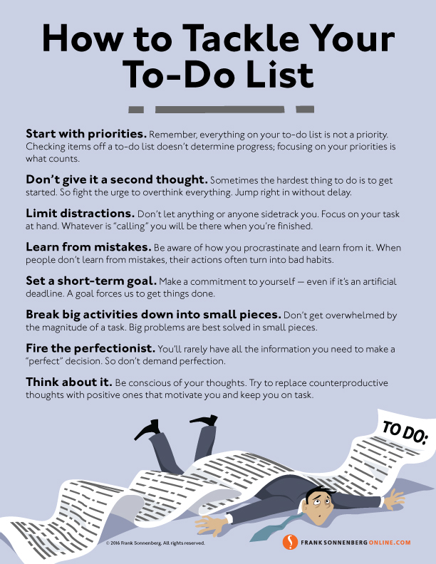 8 Ways to Tackle Your ToDo List
