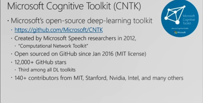 Deep Dive into the Microsoft Cognitive Toolkit (CNTK)