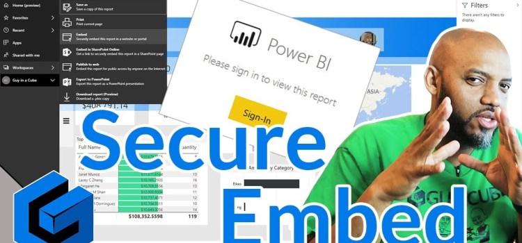 Power BI Secure Embed