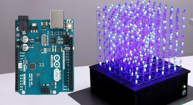 Building an 8x8x8 LED Cube with Arduino Uno