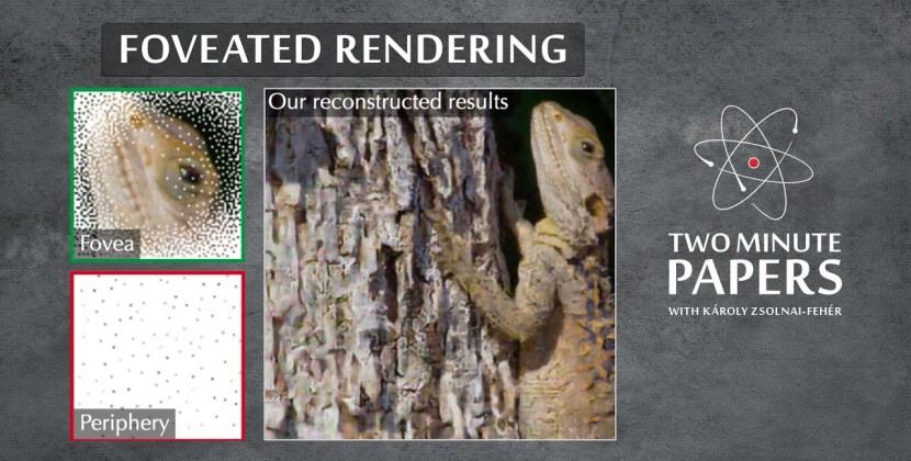 A Neural Network that Performs Foveated Rendering