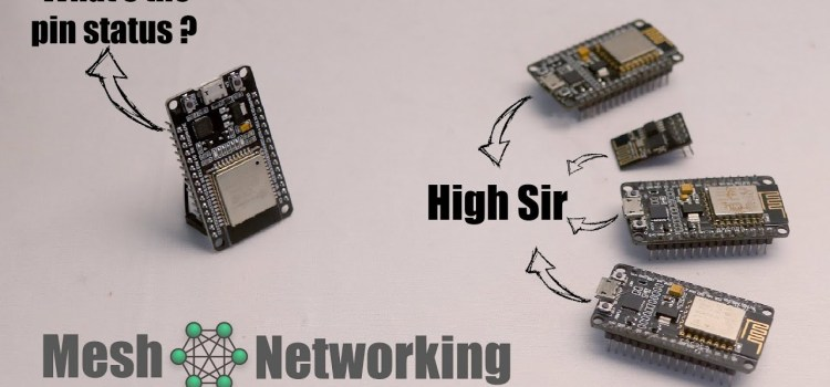 Mesh Networking demo on ESP8266 & ESP32