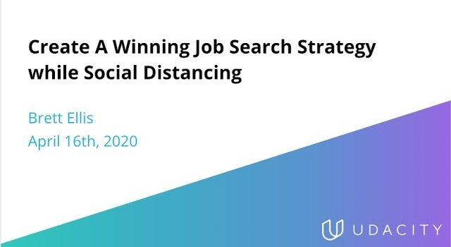 How to Create a Winning Job Search Strategy while Social Distancing