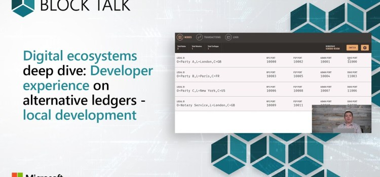 Developer Experience on Alternative Ledgers