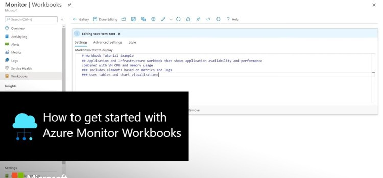 How to get started with Azure Monitor Workbooks