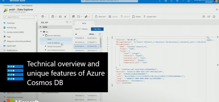 Technical Overview and Unique Features of Azure Cosmos DB