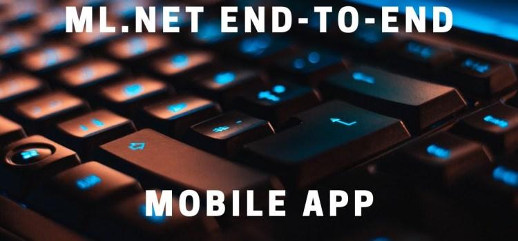 Creating a Xamarin Mobile App for Predictive Models