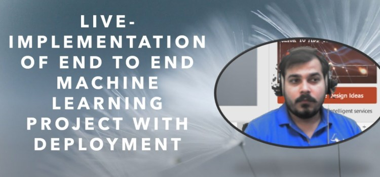 Implementation of End To End Kaggle Machine Learning Project With Deployment