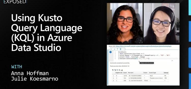 Using Kusto Query Language (KQL) in Azure Data Studio