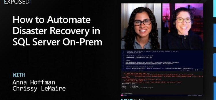 How to Automate Disaster Recovery in SQL Server On-Prem