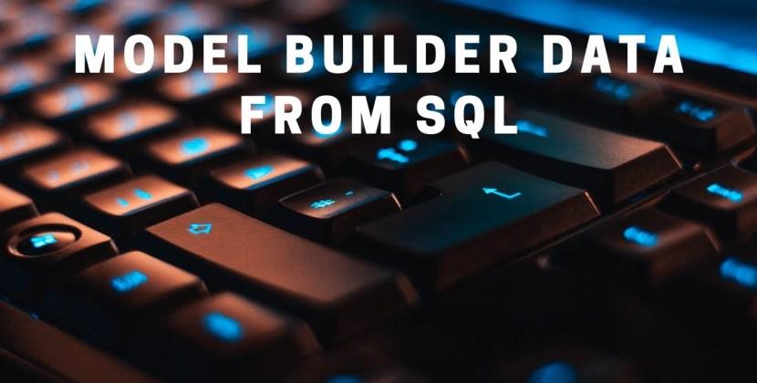 Using SQL Server Data in ML.NET Model Builder