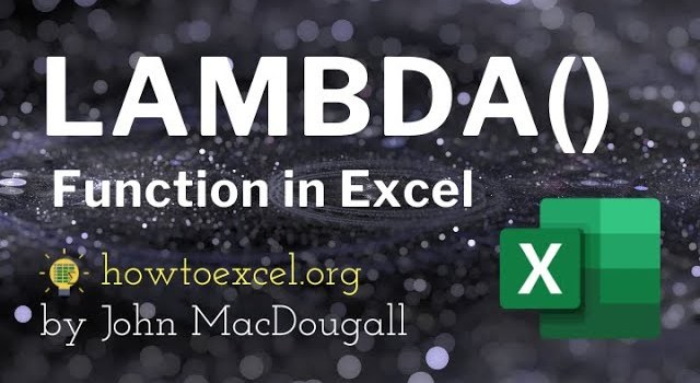 Is the New Lambda Function the Most Powerful Function Excel Has Ever had?