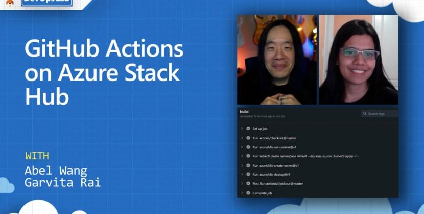 GitHub Actions on Azure Stack Hub