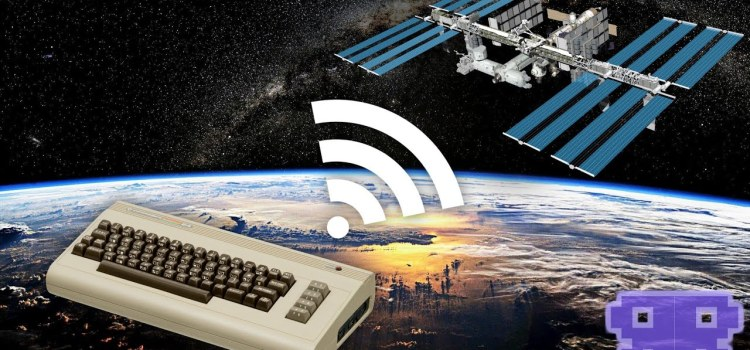 Using a Commodore 64 to Talk to the International Space Station