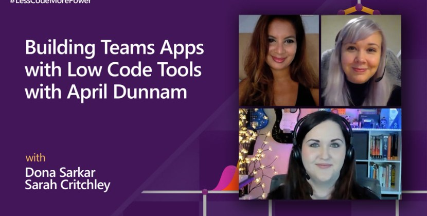 Building Teams Apps with Low Code Tools with