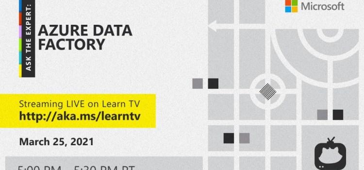 Ask the Expert: Azure Data Factory