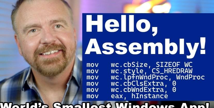 Retrocoding the World's Smallest Windows App in x86 ASM